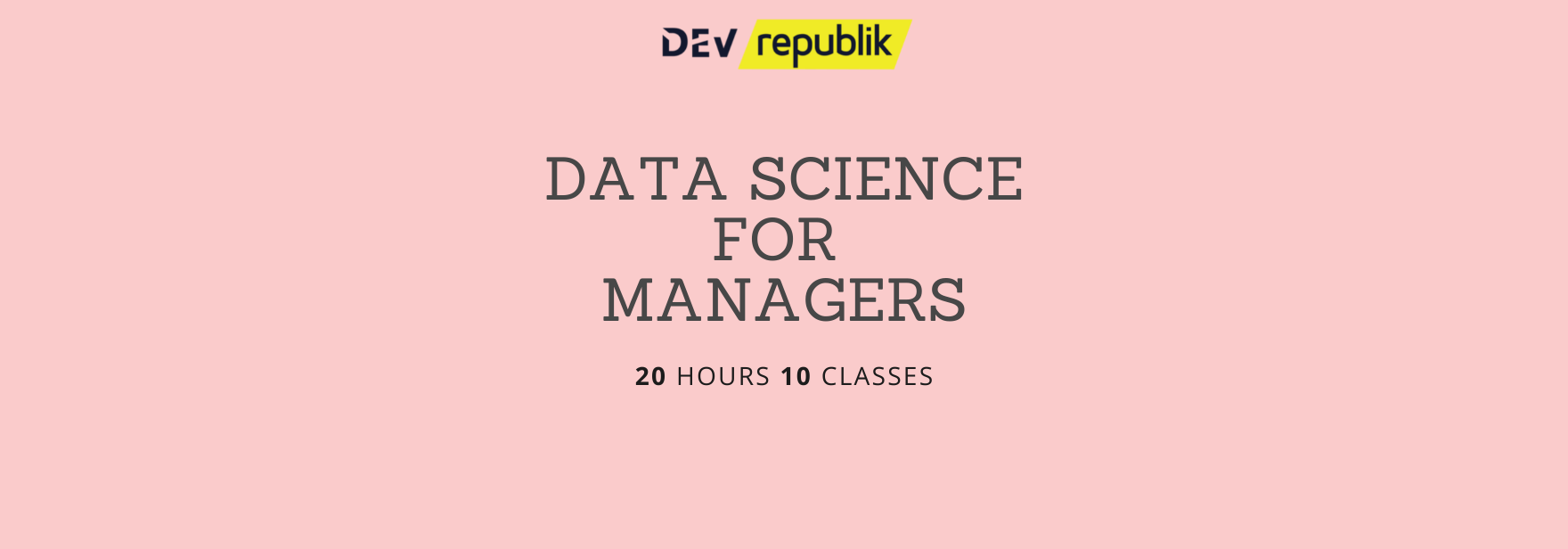Copy of data science for managers course website