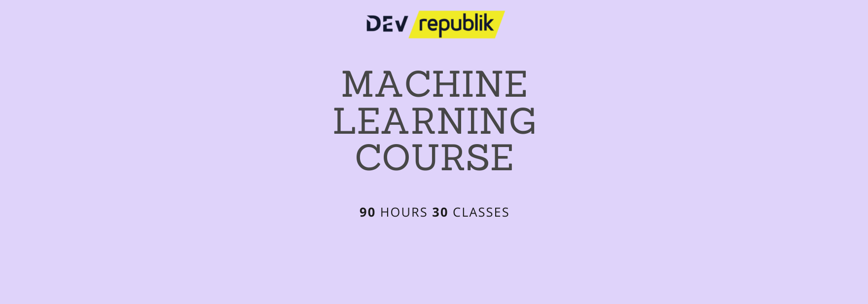 Copy of machine learning course website